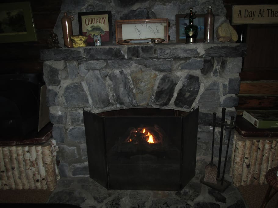 Enjoy the indoor stone fireplace on cool evenings