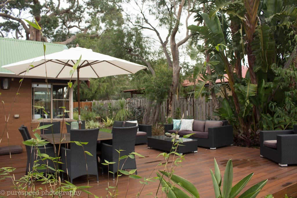 Large Deck area to relax and BBQ (shared with hosts)