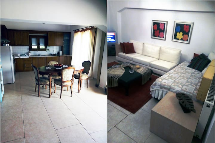 Διαμέρισμα μεγάλο 4-5 ατόμων πλήρως εξοπλισμένο.