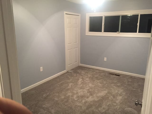 Bedroom in newly remodeled home