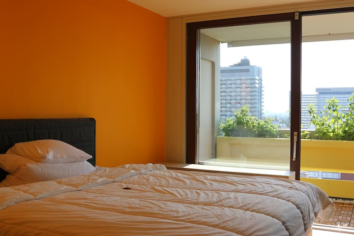 Bright room with a great view