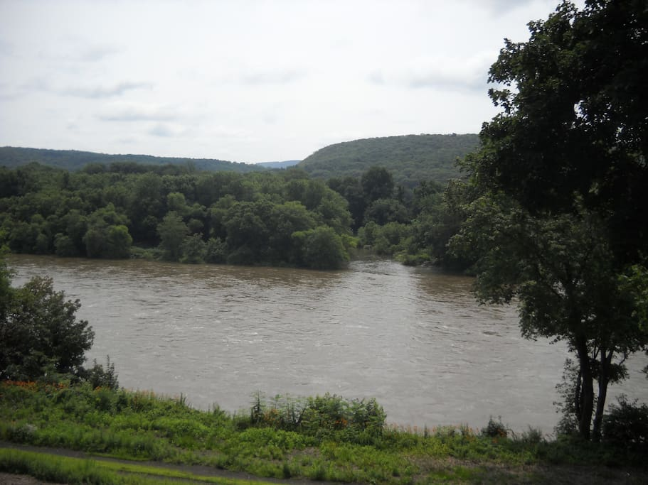 View of the Susquehanna river from the Brewery Beer Garden