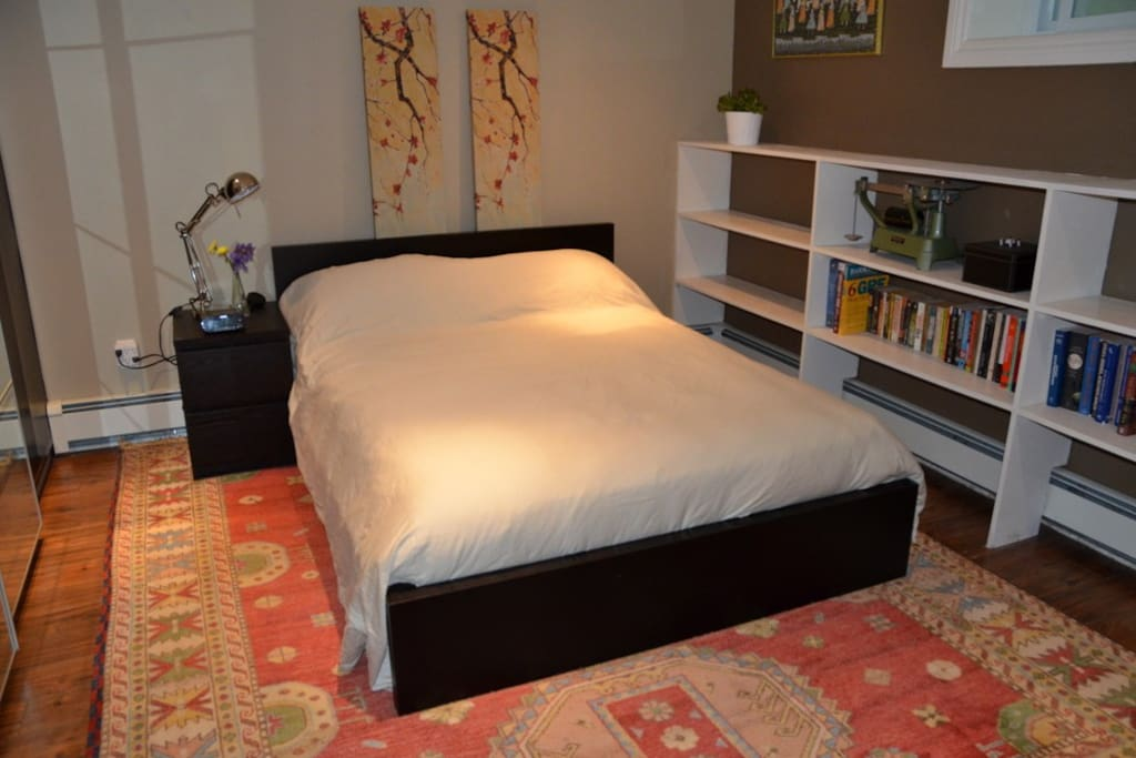 Bed area. Double bed