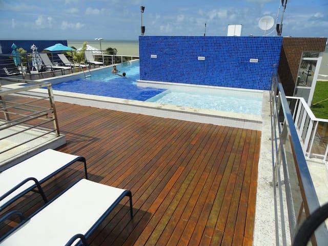 Flat beira-mar TAMBAÚ - João Pessoa - Apartotel