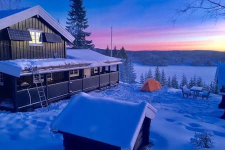 Ski in and ski out in an 100 years old cabin