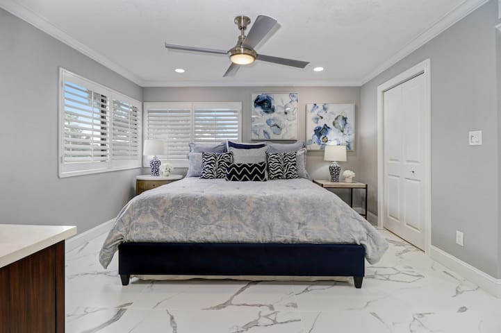 Master Bedroom with King size bed for restful sleep