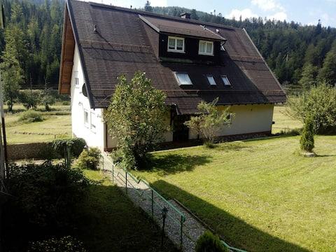bonic apartament de 4 habitacions per a famílies i vacances al marge del bosc