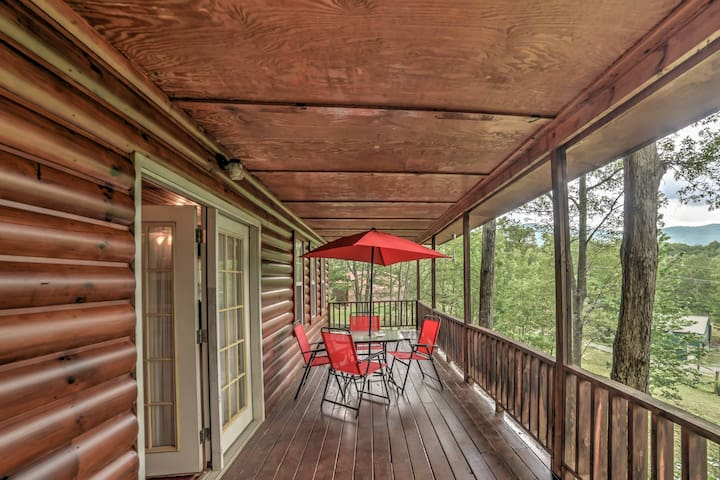 'Point of View' Tellico Plains Cabin|Pets OK w/Spa
