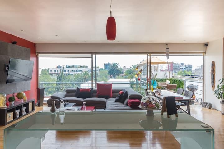 Beautiful loft in Condesa with private terrace