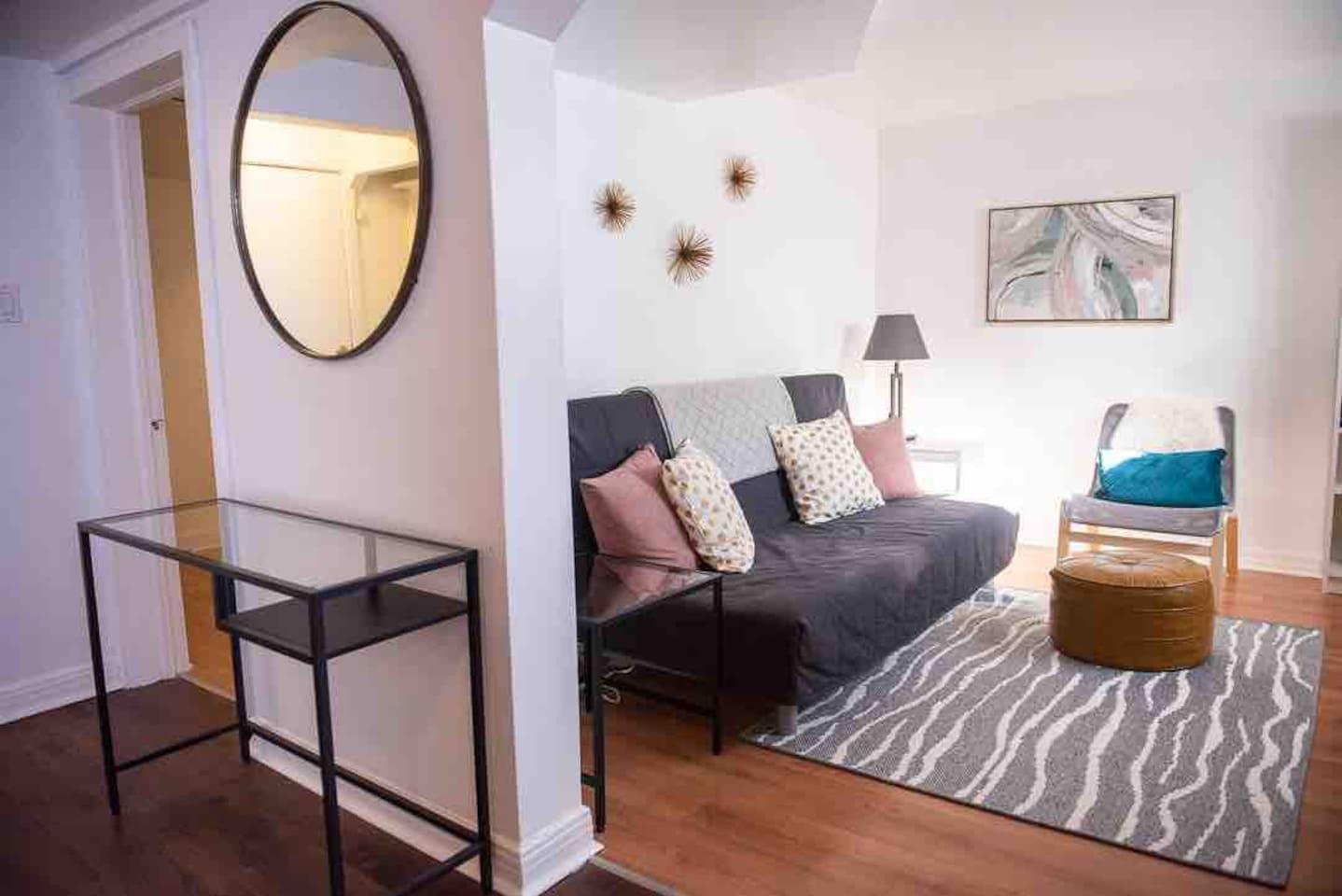 Entryway & living room