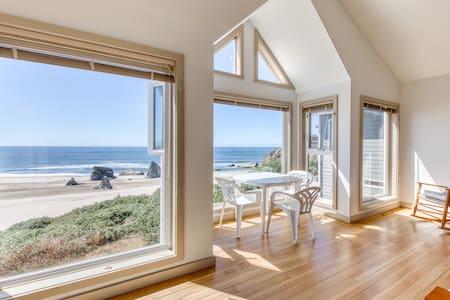 Beachfront condo w/ amazing ocean view & beach access - dogs OK!