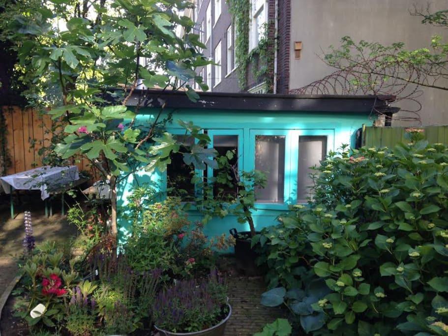 Cosy garden house private access case in affitto a for Alloggio a amsterdam
