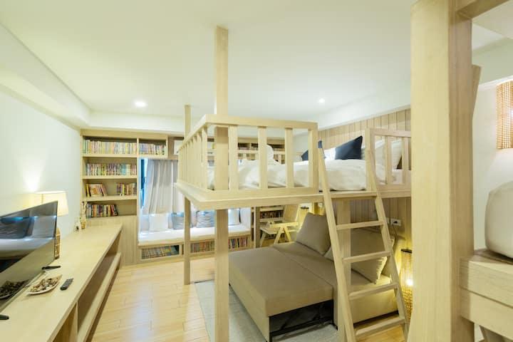 Family Room near north gate + free breakfast♡Amaka