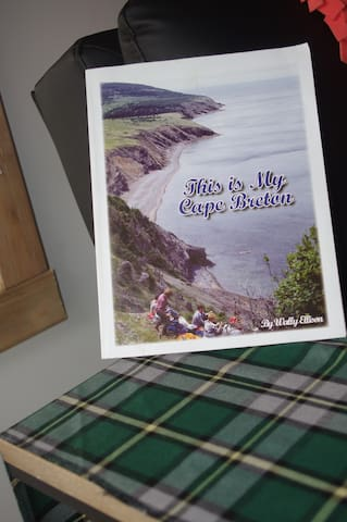 My Cape Breton book, Nova Scotia's Doers and Dreamers Guide along with lots of other pamphlets will help you decide what you want to do while visiting if you ever want to leave the cabin!