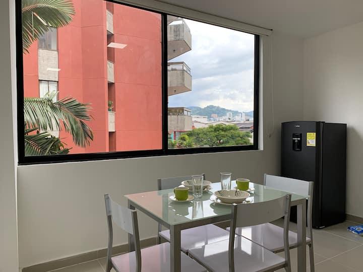 Apartamento moderno a una cuadra plaza Bolívar
