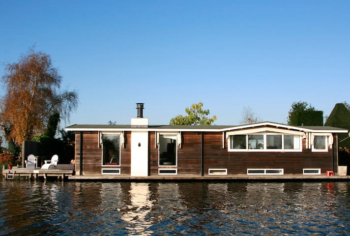 Houseboat near Amsterdam, fantastic views, 2 bikes - Vreeland - Barco