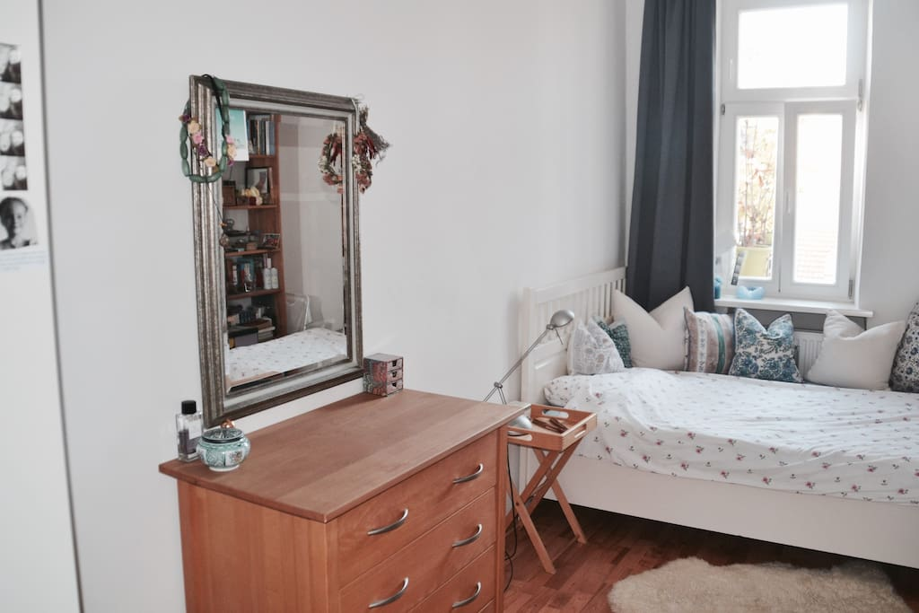 Room 1 - very comfortable bed for two/three with great mattrace (it is a very quiet room towards our beautiful courtyard)