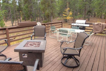 Rustic Cabin sleeps 11 on flat forested 3-acre lot 15 mins to Ned or Blackhawk - Blackhawk
