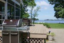 Grill while facing the water!