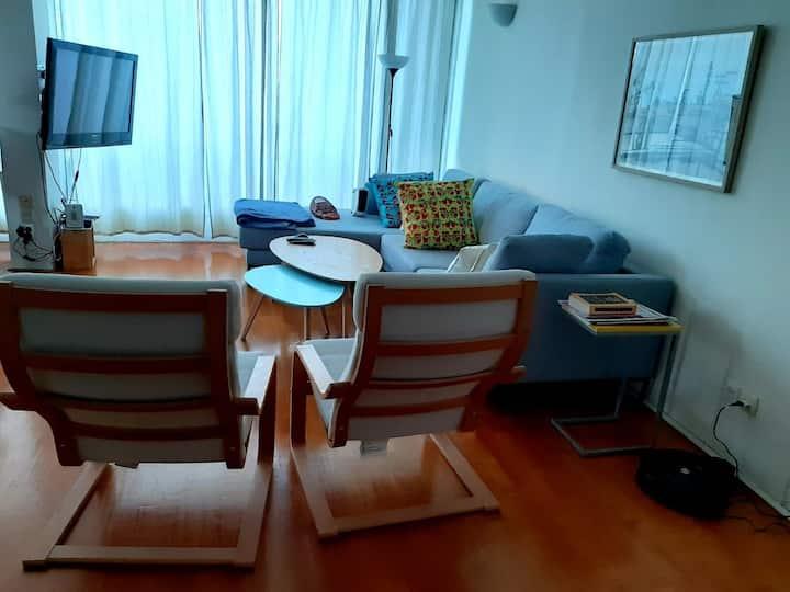 Quiet tlv, very big, designed sunny apartment.