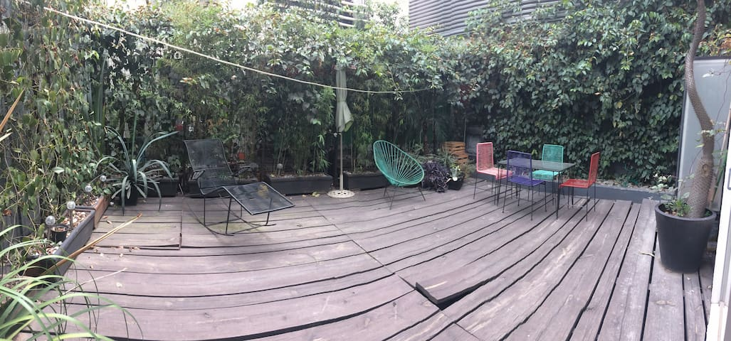 Beautiful room in apartment with deck near Condesa - Ciudad de México - Apartament