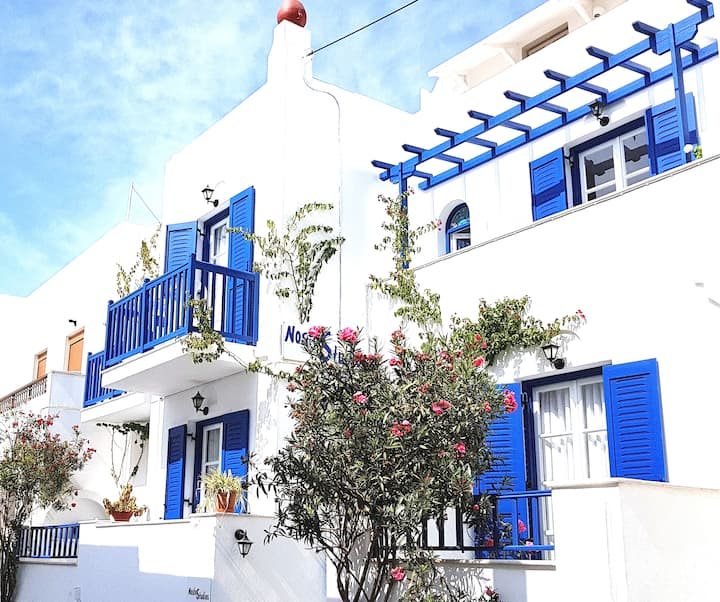 150 m from sea & Naxos,family-run,Studios Nostos 3