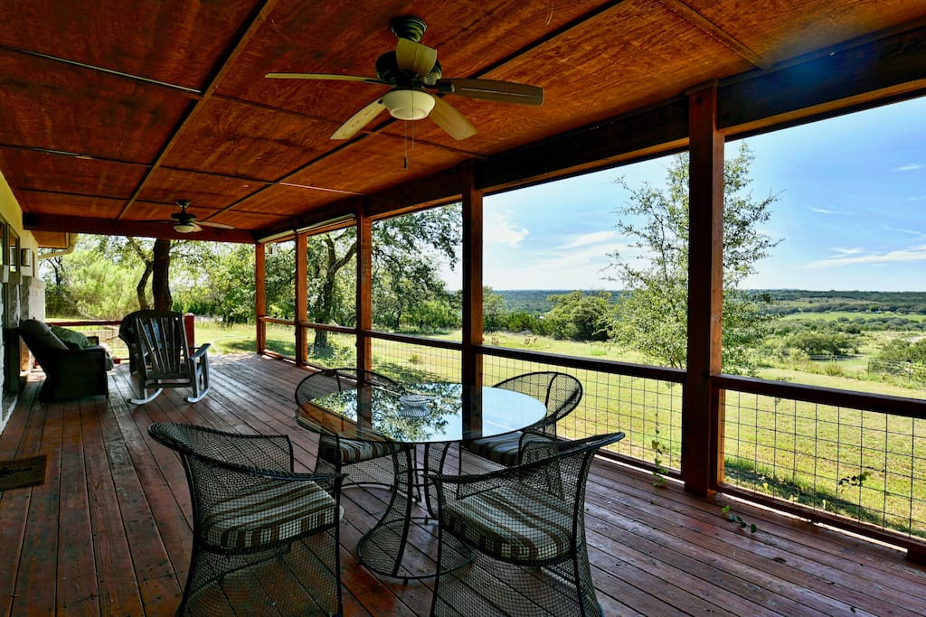 An enormous back deck where you may spend your entire visit