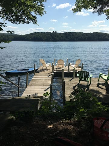 Dock on Lake Garfield, Wifi, Kayaks, Canoe Fun!
