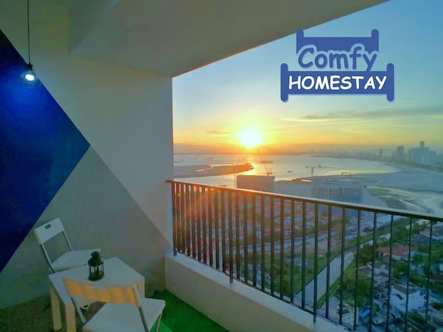 ☀ 270°超级无敌海景日出 Sunrise Seaview Gurney Balcony Lv39