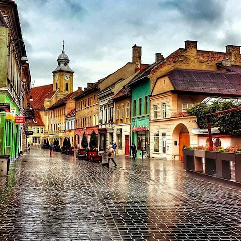 Lovely apt. 4 pers. Old City Center - Brașov - Lägenhet