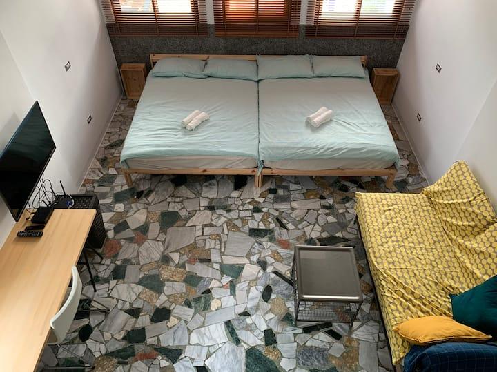 4-5 人家庭雙床房 32m2 橋頭老街民宿莉莉的家