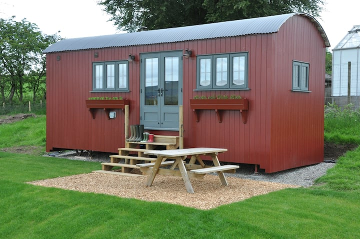 Cosy shepherds hut in beautiful surrounding