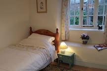Our lovely little single room is south facing and at the front of the House