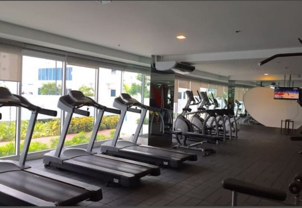 The fitness gym opens daily, too, to accommodate guests and tenants.