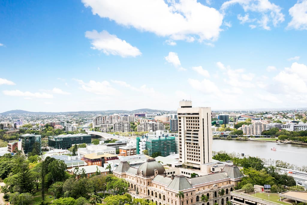 View of Parliament Building and QUT from your window