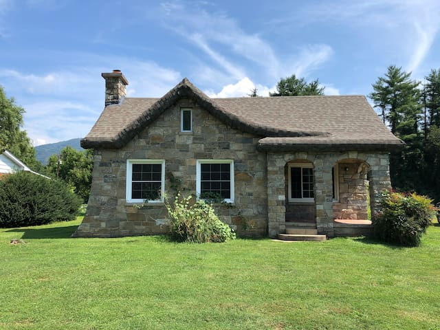 1929 Stone Cottage, nestled on the Pigeon River