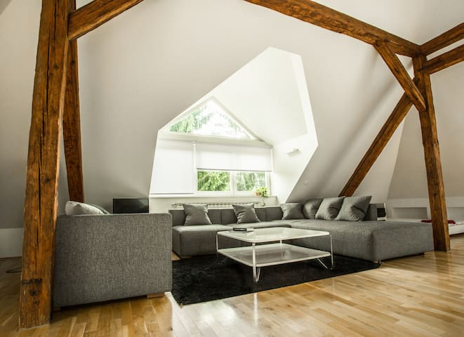 New Central Loft with free parking