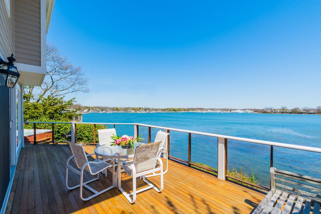 Welcome to our Waterfront Home with stunning panoramic Water Views