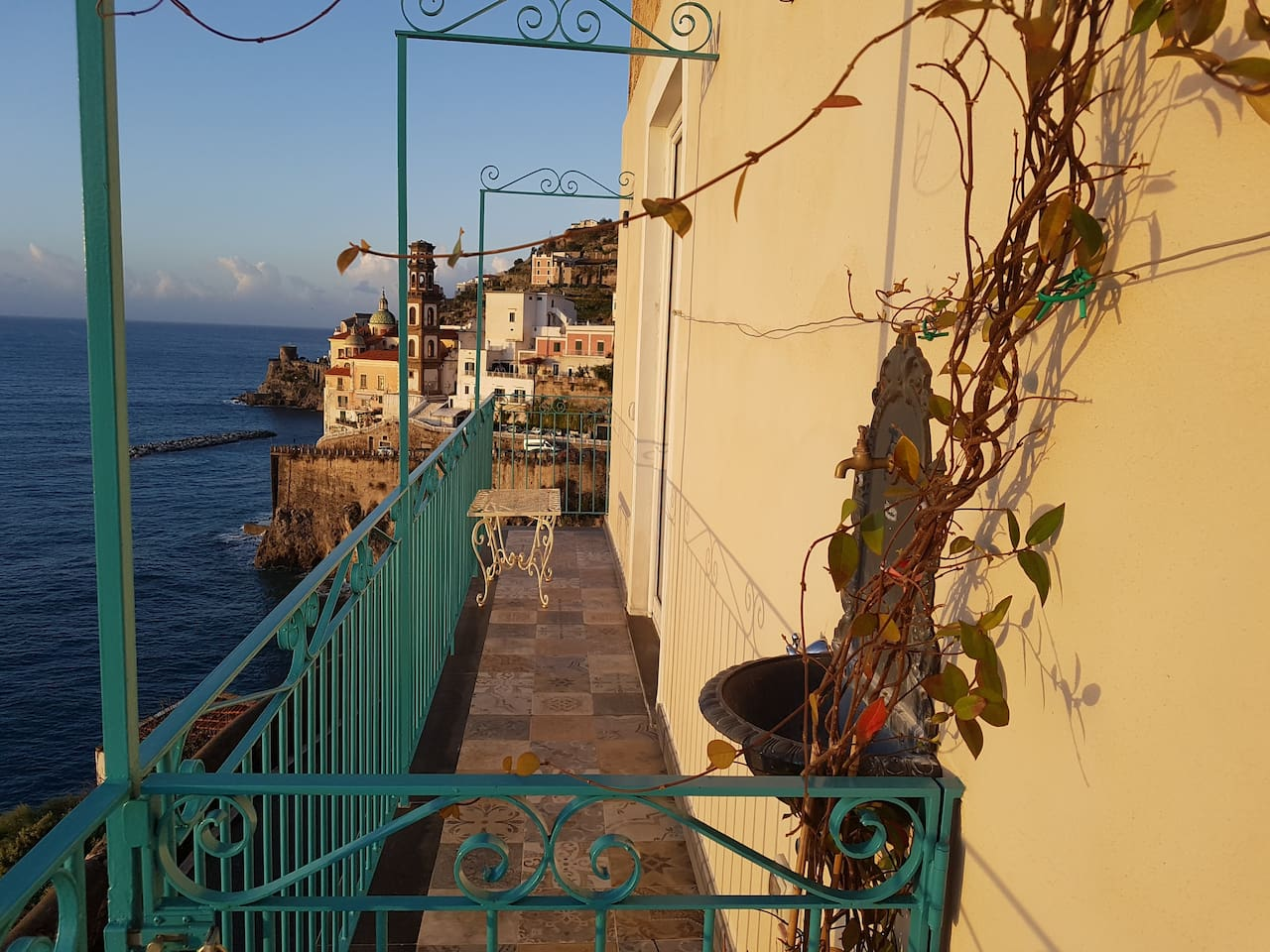 Our balcony. View over Atrani, Amalfi
