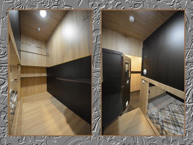 Double Room 160х200. 胶囊酒店, 캡슐 호텔, カプセルホテル, ALOHA CAPSULE HOTEL