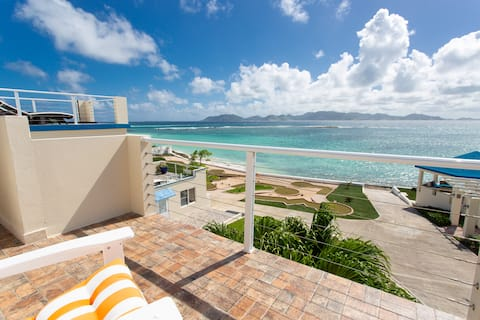 STUNNING VIEW FROM PRIVATE ROOM with Pool & Beach