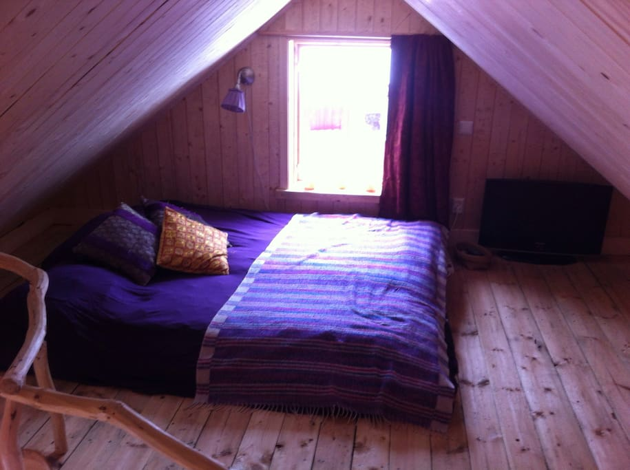 The sleep loft for two.