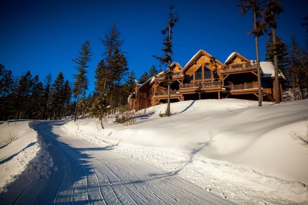 ski access behind the home.