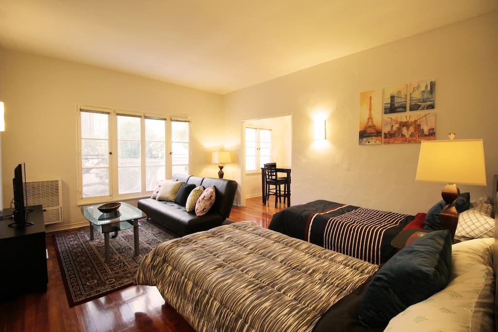 The overview of the studio apartment. Comfortable studio is waiting for you!