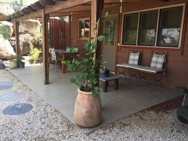 private outside porch area