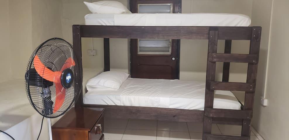 Bunk beds in open room