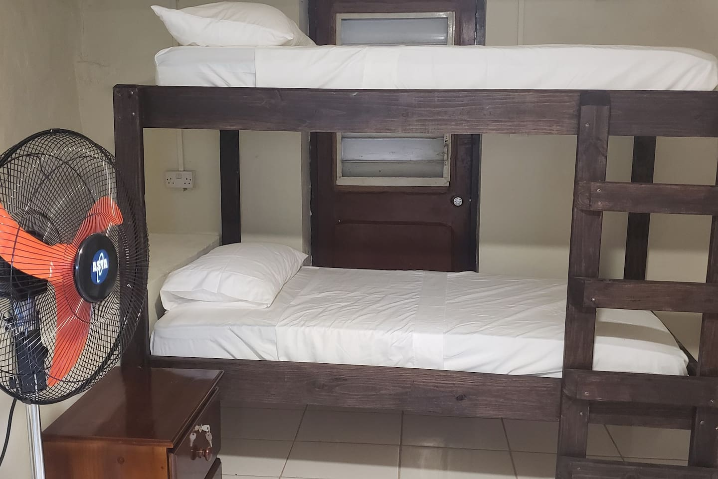Bunk beds in open room