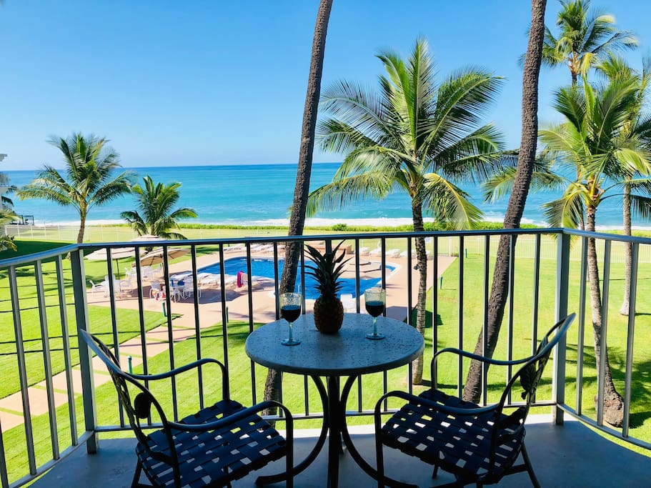 Enjoy your drink on your Lanai.