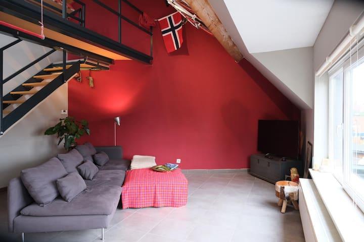 Duplex located between Antwerp and Brussels