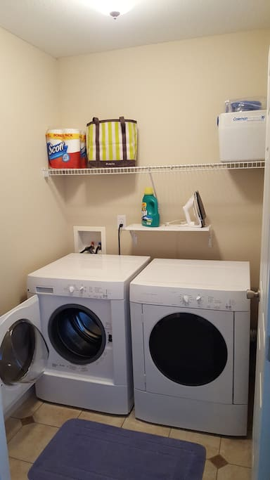 Laundry room, w/ iron and board